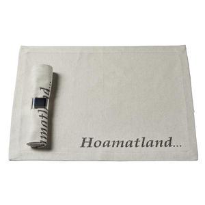 "Tischset ""Phönix"" mit eingewebtem 'Hoamatland...'"