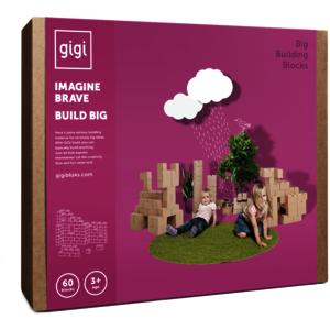 GIGI Bloks GIANT XL Karton Bausteine (60 Blöcke)