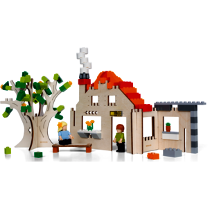 Brikkon House World - Holzhaus- Bricks kompatibel