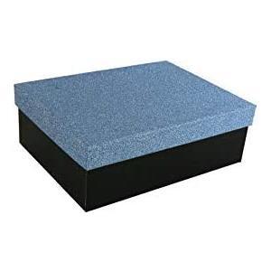 Geschenkbox Aufbewahrungsbox Karton mit GlitzerDeckel - Stabiler Karton - 5er Set in absteigender Größe in der Farben Blau