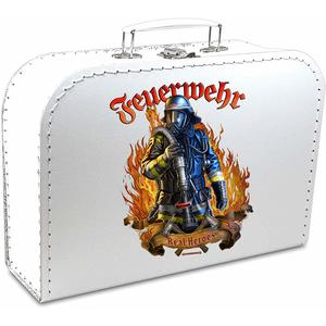 Pappkoffer bedruckt - Motiv: Feuerwehr - The real Heros