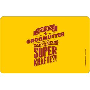 RAHMENLOS Original Brettchen für die Oma: Ich Bin Großmutter, was sind Deine Superkräfte?