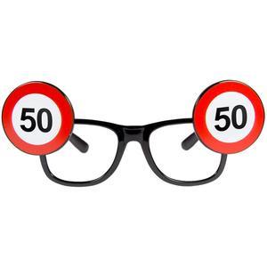 Sonnenbrille Partyverkleidung - Gag Brille zum 50. Geburtstag Geschenkartikel
