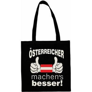 Shopping Tasche - SCHWARZ - Motiv: Österreicher machen´s besser