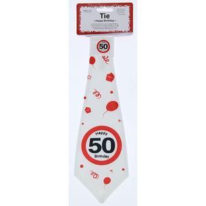 Geburtstag Krawatte 50 Jahre Verkehrsschild 50 Happy Birthday Party Deko