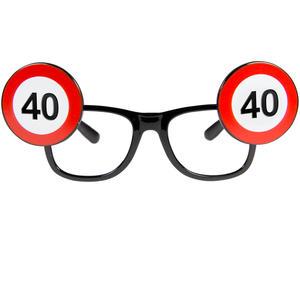 Sonnenbrille Partyverkleidung - Gag Brille zum 40. Geburtstag Geschenkartikel