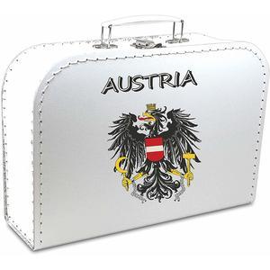 Pappkoffer bedruckt - Motiv: Austria mit Staatsadler
