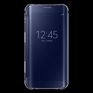 Samsung, Clear View Cover für Samsung Galaxy S6 Edge, Blau