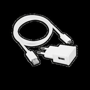 Reiselader USB Type-A 2,1A inkl. Lade- und Datenkabel für USB Type-C