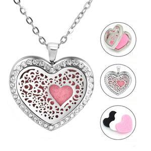 Damen Edelstahlkette Herz mit 3 Duftpads | Edelstahlschmuck