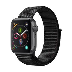 Apple Watch Series 4 Aluminiumgehäuse, SpaceGrau, mit SportLoop, Schwarz 40mm