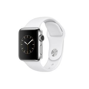 Apple Watch Series 2, 38 mm Edelstahlgehäuse mit Sportarmband, Weiß