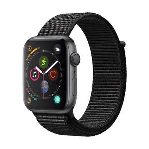 Apple Watch Series 4 Aluminiumgehäuse, SpaceGrau, mit Sport Loop, Schwarz 44 mm
