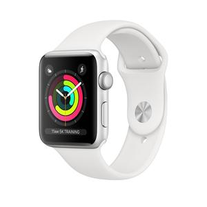 Apple Watch Series 3 GPS, 42mm Silver Aluminium Case with White Sport Band