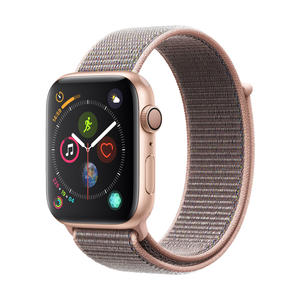 Apple Watch Series 4 Aluminium­gehäuse, Gold, mit Sport Loop, Sandrosa 44mm