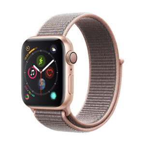 Apple Watch Series 4 Aluminium­gehäuse, Gold, mit Sport Loop, Sandrosa 40mm