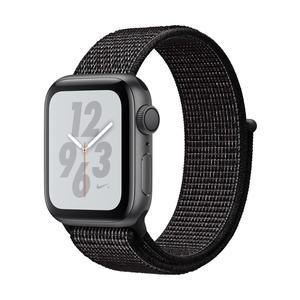 Apple Watch Series 4 Nike+ Aluminiumgehäuse, SpaceGrau, mit Nike Sport Loop, Schwarz 40mm