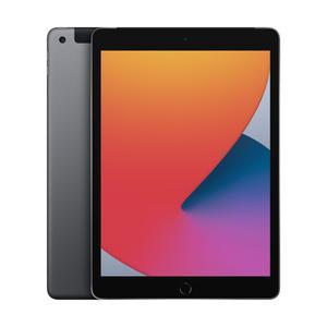 iPad Wi-Fi + Cellular, 128GB, space grau, 10.2 Zoll (8.Gen.)
