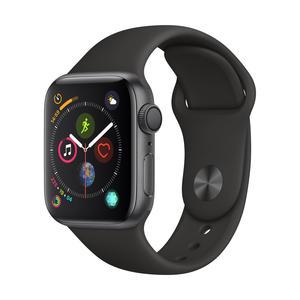 Apple Watch Series 4 Aluminiumgehäuse, SpaceGrau, mit Sportarmband, Schwarz 40mm
