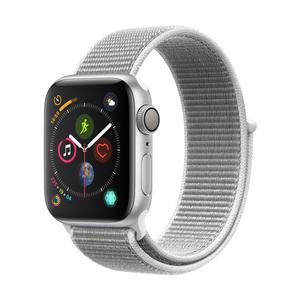 Apple Watch Series 4 Aluminiumgehäuse, Silber, mit SportLoop, Muschel 40mm