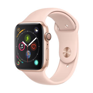 Apple Watch Series 4 Aluminium­gehäuse, Gold, mit Sportarmband, Sandrosa 44mm