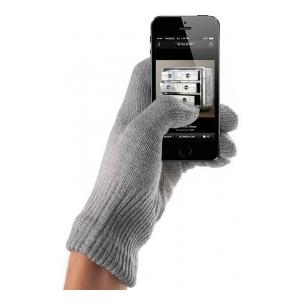 Mujjo Touchscreen Gloves Natural Gray - Unisex (S/M)
