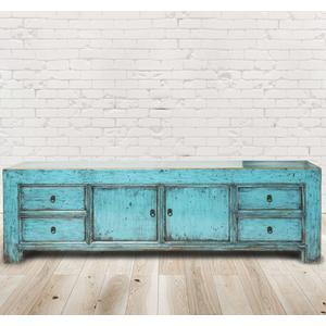 Sideboard Aveiro, Vintage Möbel, Altholz, Shabby Look, Rustikal, Altholz, Natur, Vollholz,200x44x60cm