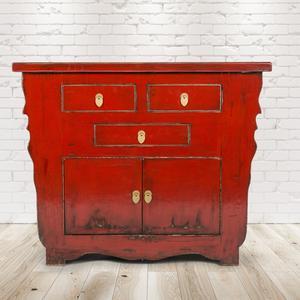 Kommode Funchal Vermelho, Vintage Möbel, Altholz, Shabby Look, Rustikal, Altholz, Natur, Vollholz,105x45x85