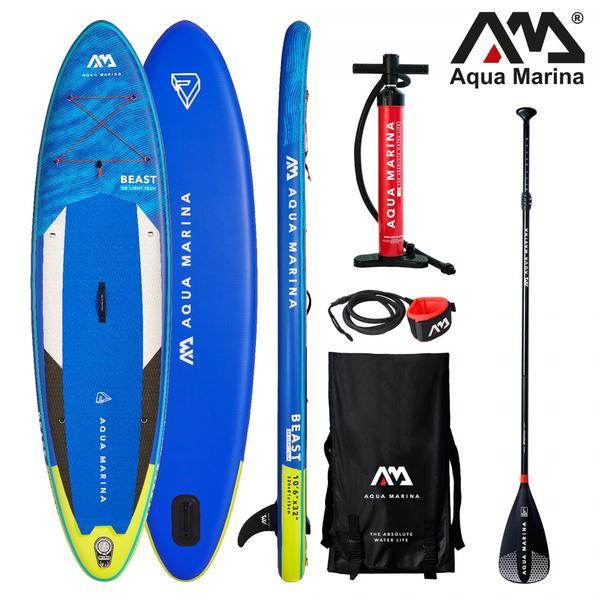 AQUA MARINA Stand Up Paddle Beast 320x81cm SUP aufblasbar (Schlauchboot, Kanadier, Schlauchkanu, Kanu, Freizeit, Angel, Ruderboot, Paddelboot, Canadier, Fluss, See) SONDERAKTION !