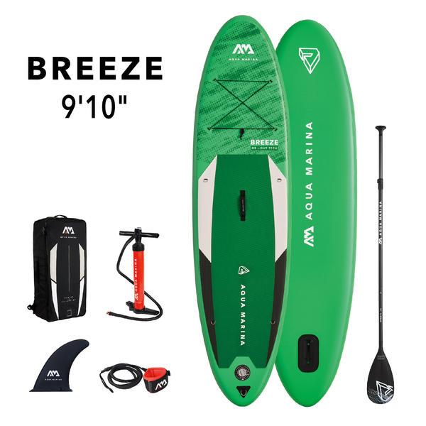 AQUA MARINA Stand Up Paddle Breeze 300x76cm SUP aufblasbar (Schlauchboot, Kanadier, Schlauchkanu, Kanu, Freizeit, Angel, Ruderboot, Paddelboot, Canadier, Fluss, See) SONDERAKTION !