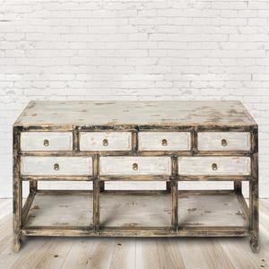 Sideboard Évora, Vintage Möbel, Altholz, Shabby Look, Rustikal, Altholz, Natur, Vollholz,154x42x85cm