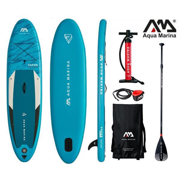 AQUA MARINA Stand Up Paddle Vapor 315x79cm SUP aufblasbar (Schlauchboot, Kanadier, Schlauchkanu, Kanu, Freizeit, Angel, Ruderboot, Paddelboot, Canadier, Fluss, See) SONDERAKTION !