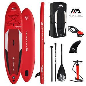 AQUA MARINA Stand Up Paddle Monster 366x84cm SUP aufblasbar (Schlauchboot, Kanadier, Schlauchkanu, Kanu, Freizeit, Angel, Ruderboot, Paddelboot, Canadier, Fluss, See) SONDERAKTION