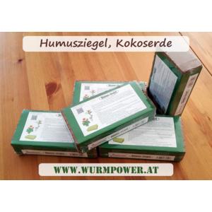 Humusziegel 10 x 650g - 90 L Kokoserde als Einfüllmaterial für Trenntoilette, bzw. Komposttoiletten