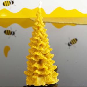 Bienenwachskerze Weihnachtsbaum, ca 7cm