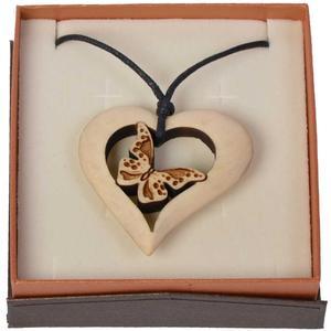 Zirbenkette - Herz trifft Schmetterling