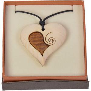 Zirbenkette mit Herz Ornament
