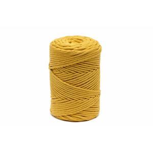 140m Makramee Garn UNGEZWIRNT SENF GELB 3.0 mm - Garn Kordel Schnur Seil 100% Baumwolle für Quasten und Bommel - Knüpfkordel Makrameegarn