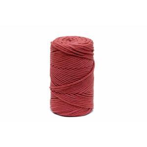 140m Makramee Garn UNGEZWIRNT ROT 3.0 mm - Garn Kordel Schnur Seil 100% Baumwolle für Quasten und Bommel - Knüpfkordel Makrameegarn - Kopie