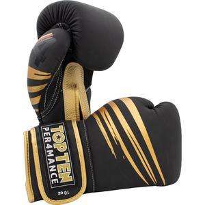 "Boxhandschuhe ""4Select"" aus Leder - schwarz-gold, 12 oz"