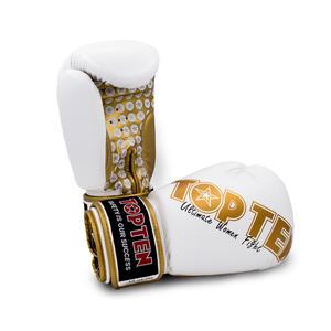 """Boxhandschuhe """"Woman"""" für Frauen - 10 oz, weiss-gold"""