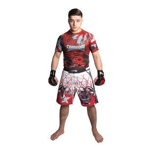 "MMA-Shorts ""Samurai I"" - Gr. S = 160 cm, weiss-rot"