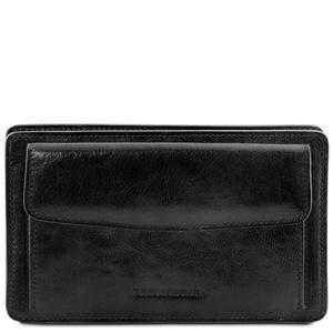 Denis - Elegante Handgelenktasche/Herrentasche aus Leder