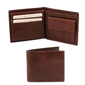 Exklusive Herren Brieftasche aus Leder mit Münzfach