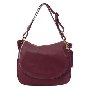 TL Bag - Umhängetasche aus weichem Leder mit Quasten