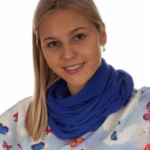 Damen Loop Schal mit Reißverschluss-Fach in Blau