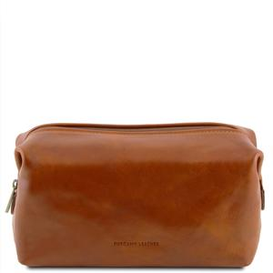 Smarty - Reise - Kulturtasche aus Leder - Klein