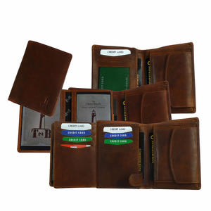 Exklusive Herren Brieftasche aus Leder in Naturbraun | Geldbörse aus Voll-Rindleder