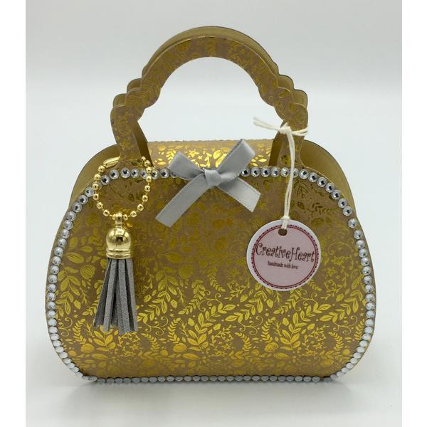 Explosionsbox als Handtasche für Geld- Gutschein- Schmuck- Geschenk, zum Geburtstag, Jubiläum, Prüfung, Pensionierung, Hochzeit, Jahrestag