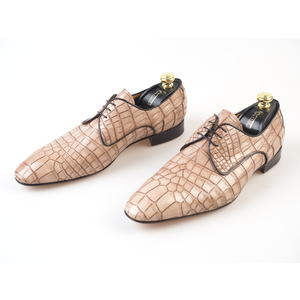 ZILLI - Classic leather derby Schuhe - Krokodilleder Alligatorleder